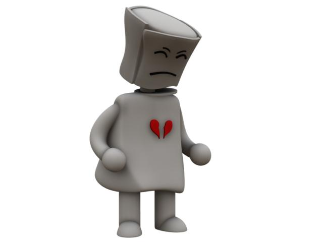I have received the first rendering of my Broken Heart Robot.